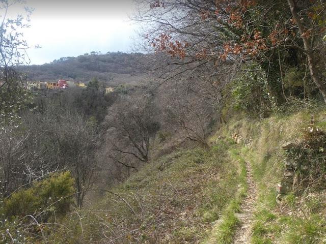 tratto di sentiero da Biassa alla Spezia