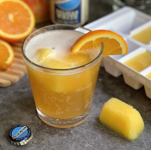 Screwdriver Cubes #drink #orange #cocktail #party #vodka