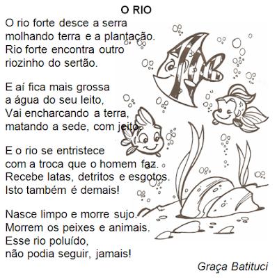 Poesia O RIO, de Graça Batituci