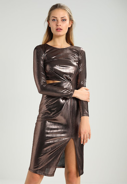 Miss Selfridge – Metallic Dress | 15 vestiti per capodanno 2018