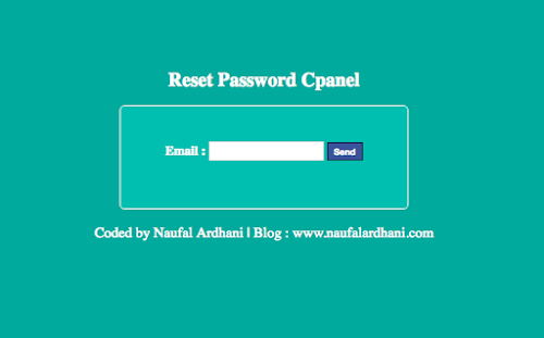 Tools Reset Password Cpanel V.1 By Naufal Ardhani [ PHP ]
