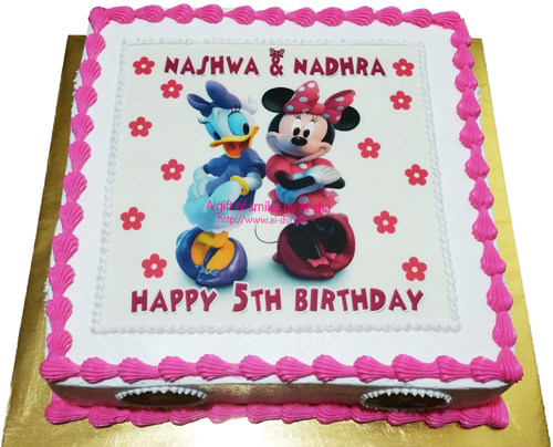 Birthday Cake Edible Image Minnie Mouse