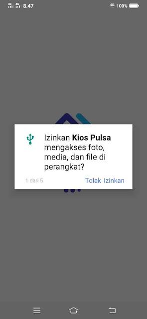 Izinkan KIOS Pulsa untuk mengakses  foto, media, dan file di perangkat