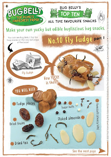 picture of recipe for Fly Fudge a Bug Belly snack