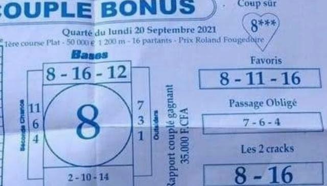 Pronostics quinté pmu Lundi Paris-Turf-100 % 20/09/2021