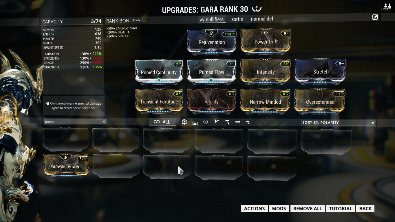 Warframe Build Gara