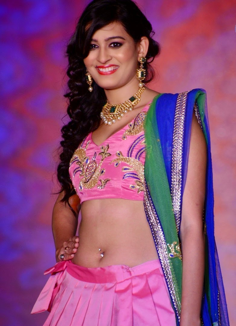 Actress Swetha Jadhav Latest Cute Hot Exclusive Pink Dress Navel Show Spicy Photos Gallery At Legacy of Prestige Fashion Show