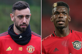 Bruno, Pogba play together for the first time in Man United friendly