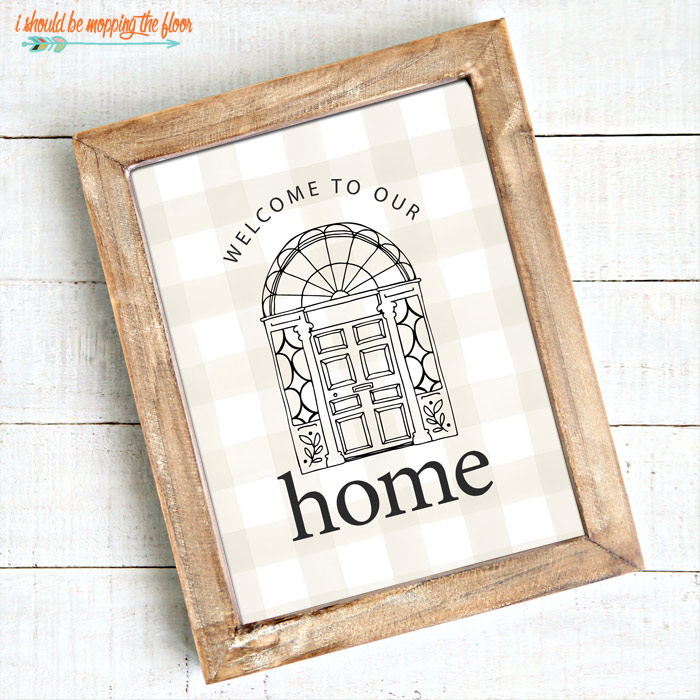 Welcome Printable with Front Door