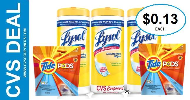 Tide & Lysol CVS Coupon Deal $0.13 1-19-1-25