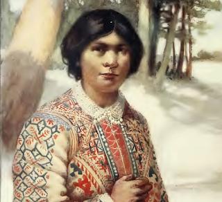 AN OSTIAK WOMAN. SIBERIA.