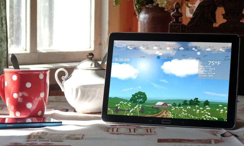 تطبيق وبرنامج Yoweather لمحاكات الجو المحيط بك على هاتفك أو حاسوبك