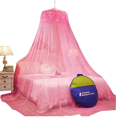 Classic Mosquito Net Round Shaped, Celling Hanging Foldable and Enough for Double Bed
