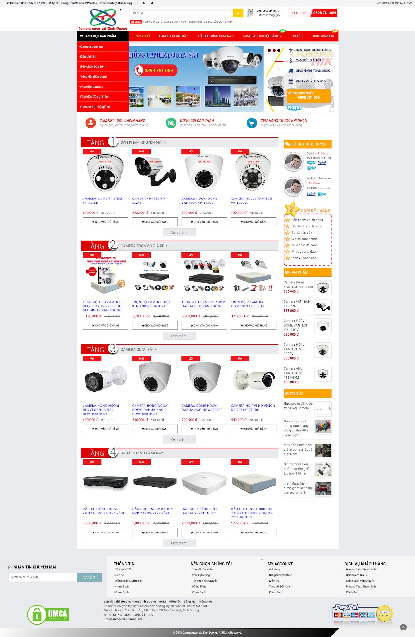 Template blog bán camera