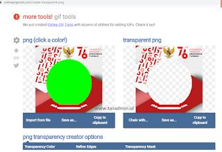 Membuat Transparan Gambar Twibbon