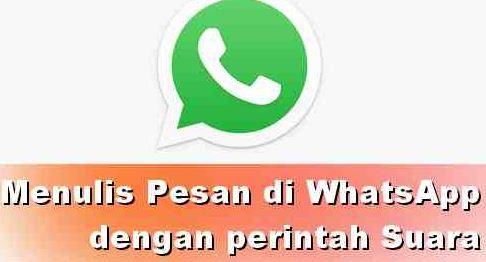 cara menulis whatsapp dengan suara