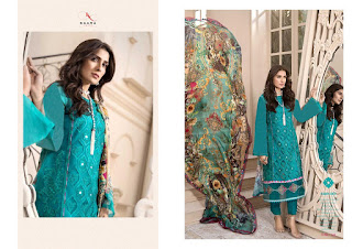 Kaara Suits mahe Noor Cotton Shiffly pakistani Suits wholesaler