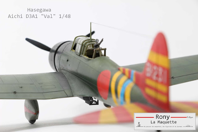 "Maquette Aichi D3A1 ""VAL"" d'Hasegawa au 1/48."