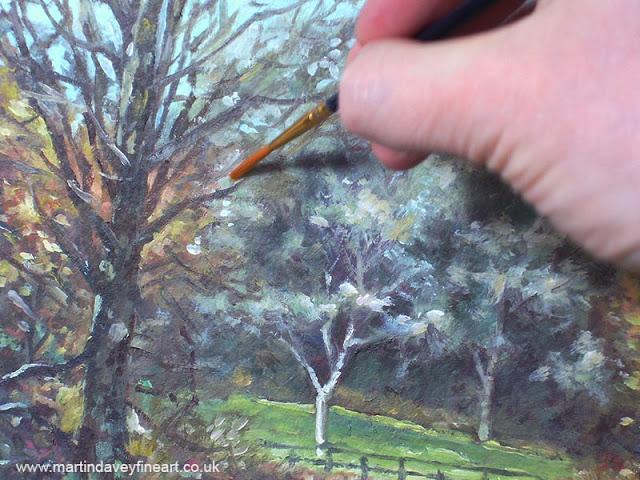 martin davey garden painting WIP hampshire