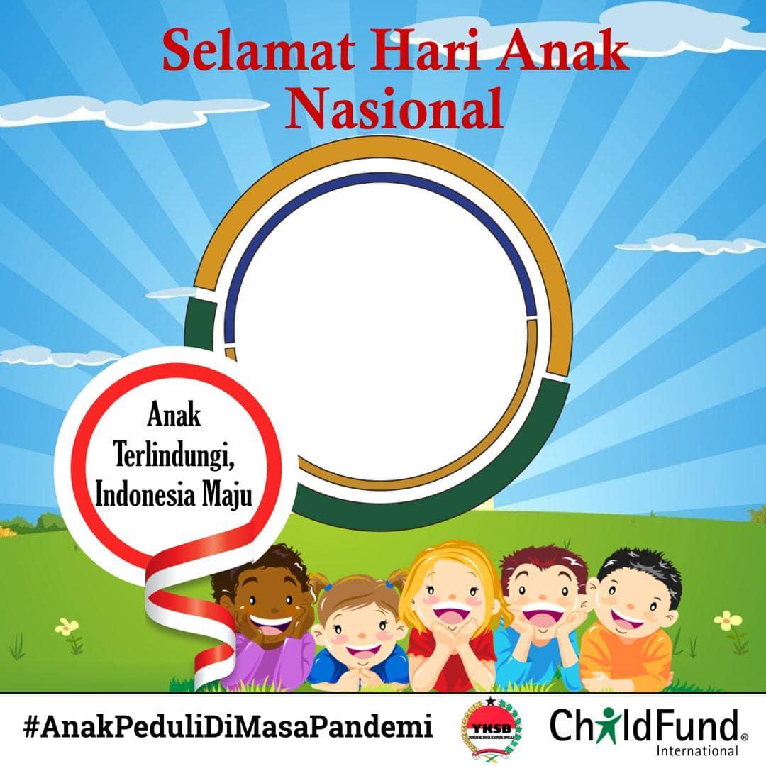 Background Frame Bingkai Twibbon Peringatan Hari Anak Nasional 2021