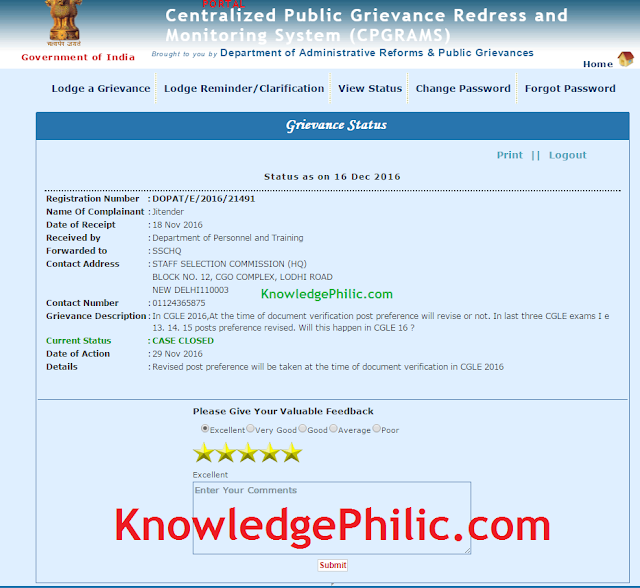 CGL 2016: Post Preference can be Changed at Document Verification (PGPortal Reply)
