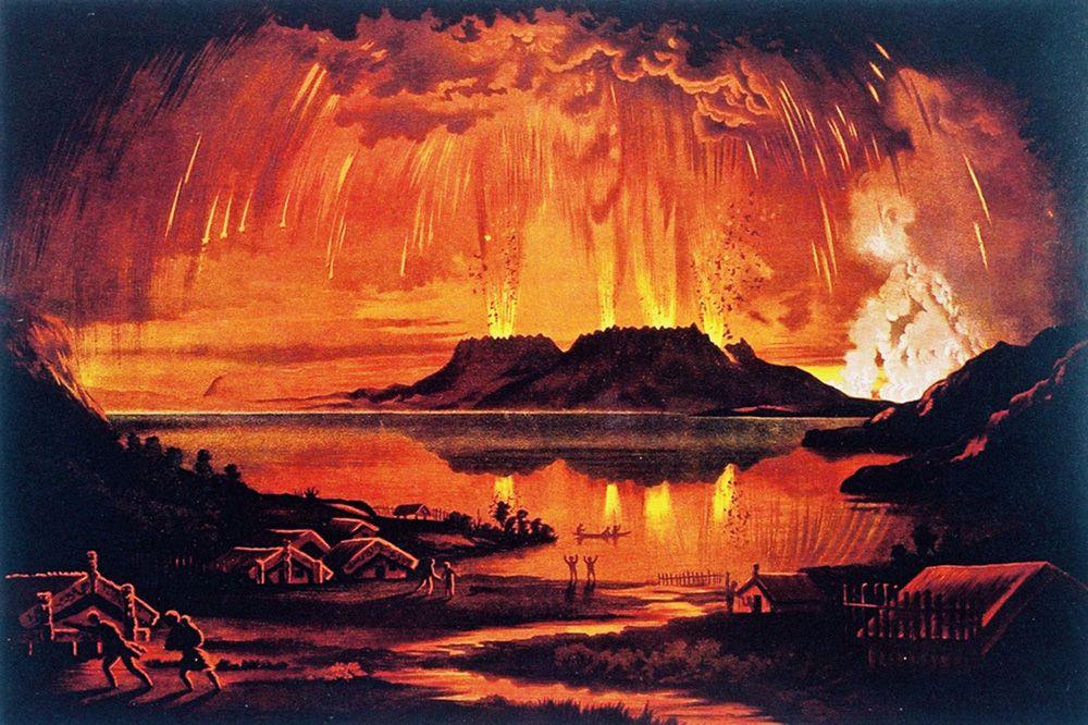 Mount Tarawera's eruption