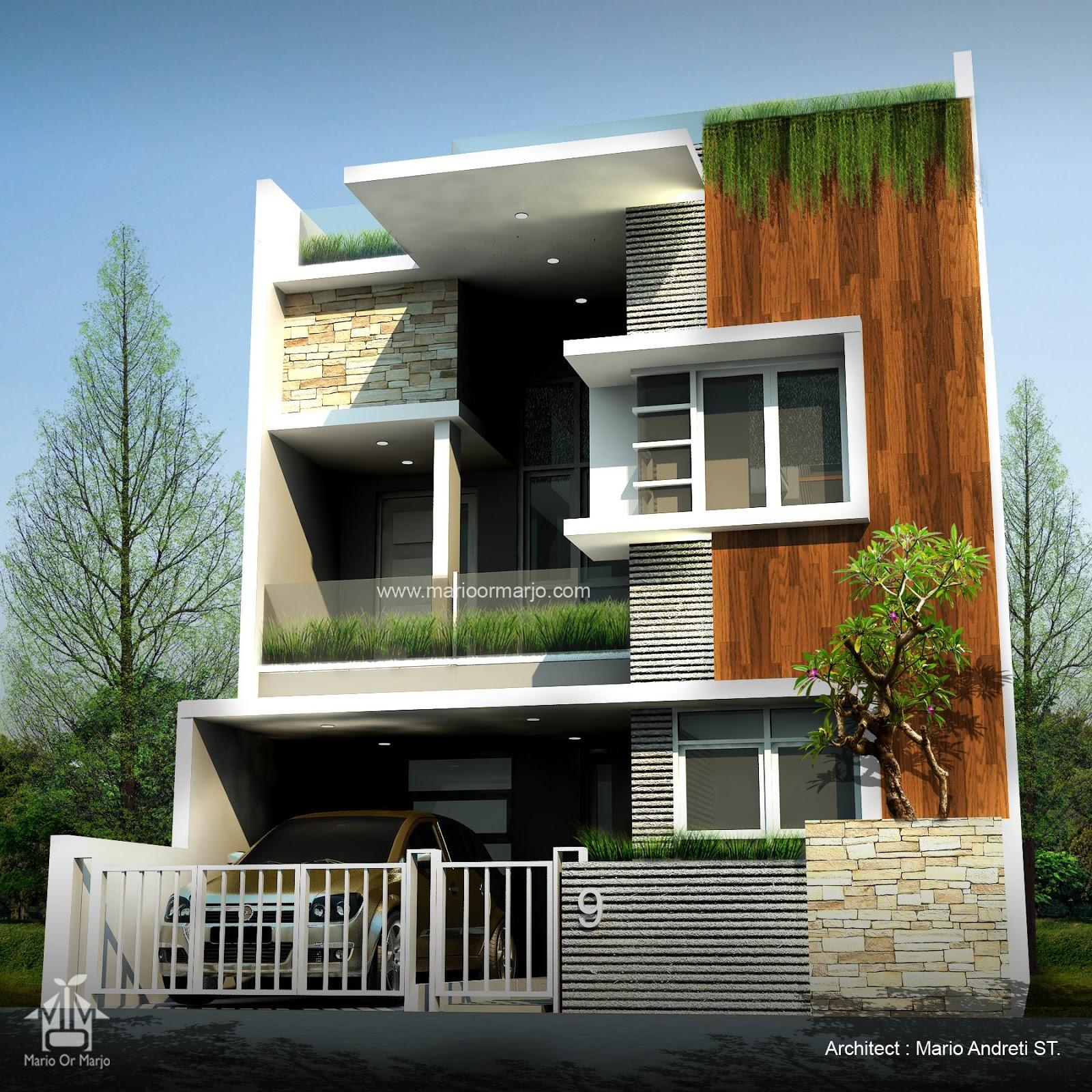 Desain Rumah Minimalis Semi Basement | Kumpulan Desain Rumah