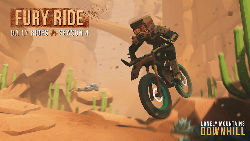Tame the wasteland in Lonely Mountains: Downhill Daily Rides Season 4: FURY RIDE!