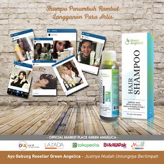 shampo penumbuh rambut, penumbuh rambut, green angelica