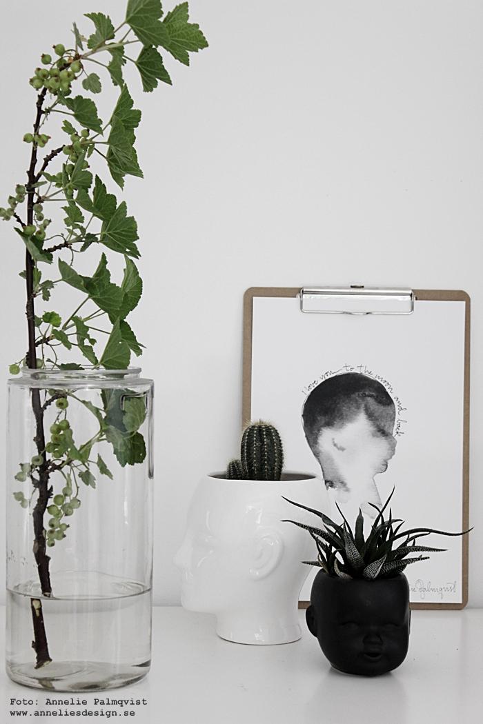 födelse, födelsetavla, poster, posters, print, prints, konsttryck, tavla, tavlor, svart och vitt, kruka ansikte, kaktus, minikaktus, minikaktusar, webbutik, webbutiker, webshop, inredning, nettbutikk, nettbutikker, plakat, plakater, annelies design, växter, vinbär, ansikten,