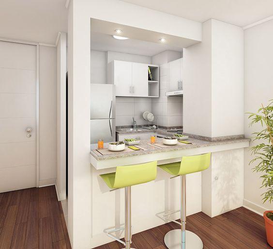 Hogar diez 15 cocinas peque as y bonitas for Imagenes de cocinas bonitas