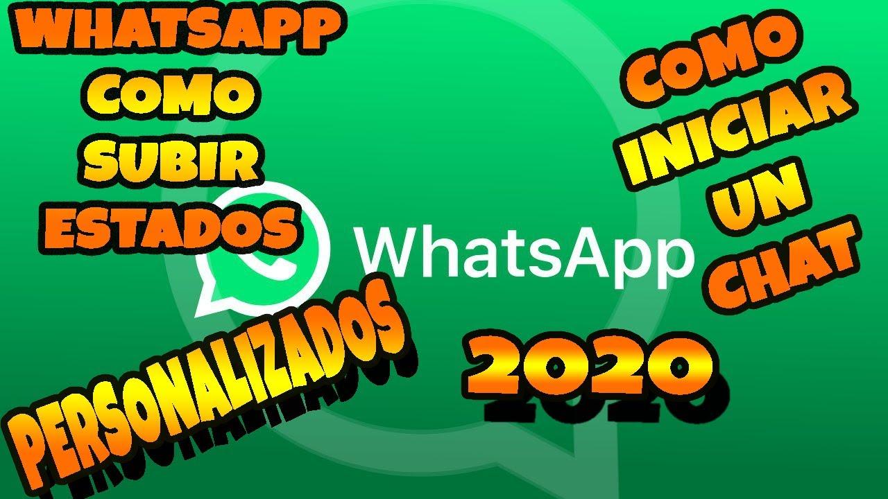 Como poner estados personalizados en WhatsApp