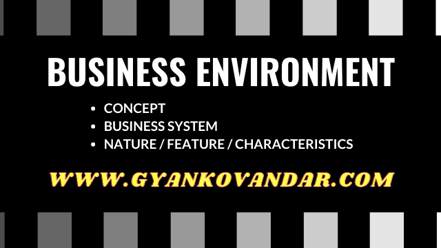 Business Environment: Concept, characteristics, and Business System