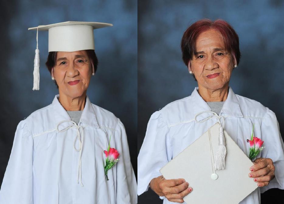 Isang Lola kinabiliban ng makapagtapos ng High School sa edad na 62 ANYOS.