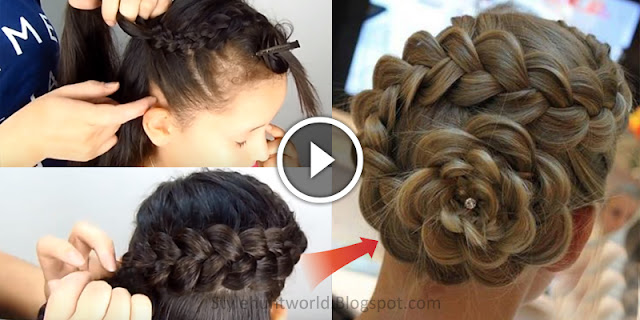 Learn - How To Create Flower Braid Hairstyle, See Tutorial