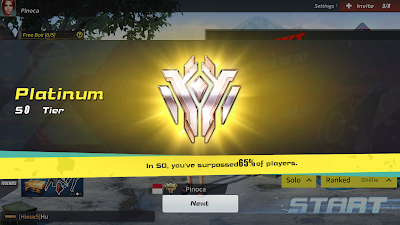 Tier Platinum Rules of Survival