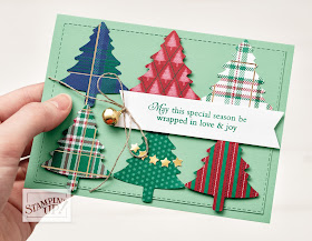 Perfectlly Plaid Pine Tree punch Stampin Up