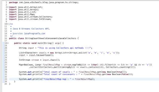 Java 8 Collectors.partitioningBy() and Collectors.counting() - Collectors API
