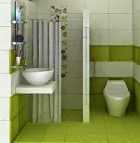 Desain kamar mandi yang minimalis dan sederhana yang hemat