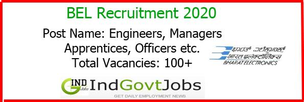 Bel Recruitment 2020 Latest Bel Jobs 79 Engineer Officer Medical Posts