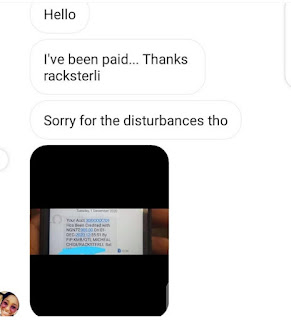 Racksterli proof of payments