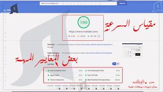 قياس سرعة تحميل المدونة بإستخدام موقع Page Speed Insights :
