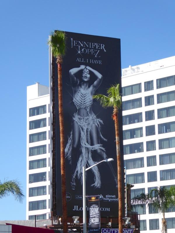 Jennifer Lopez All I Have Las Vegas residency billboard