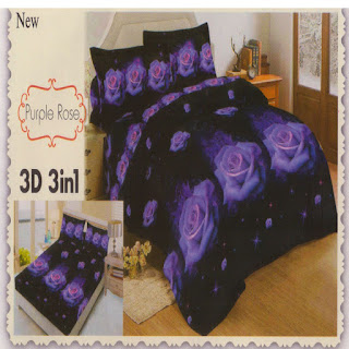 sprei 3d lady rose Purple Rose