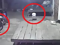 Seram, Sosok Hantu Bermain Sepeda Tertangkap Kamera CCTV