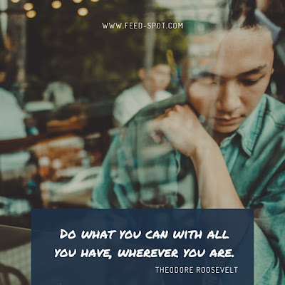 Do what you can with all you have, wherever you are. __ Theodore Roosevelt