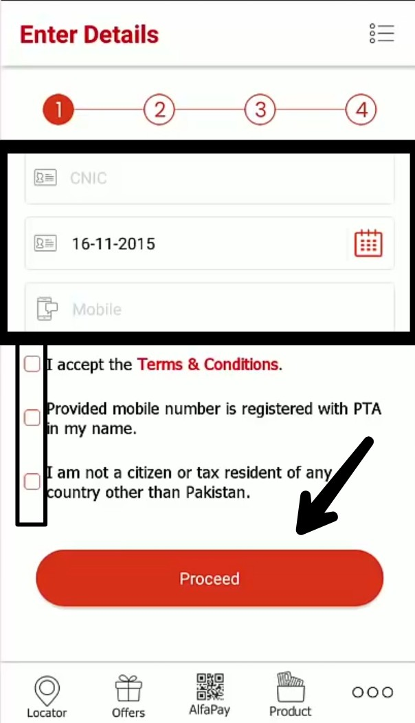 How to register Alfa net banking account on Alfa app