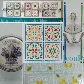 Stencil-azulejo-hidráulico-perchero-handmade-Crea2-Con-Pasión-collage-preseentación