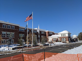 photo of FHS taken in the sunny snow on Saturday