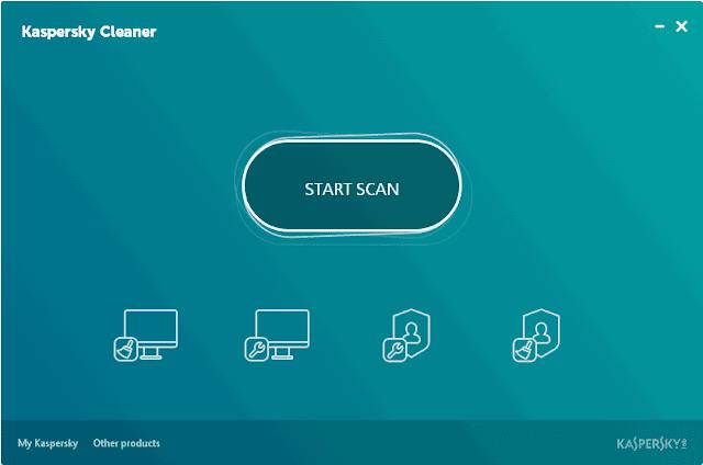 Kaspersky Cleaner schermata iniziale